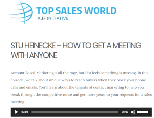 Top Sales World – Sales Hard Talks Interview